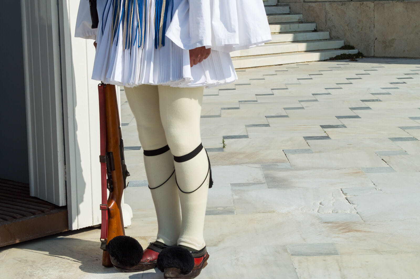 Footwear of Athenian guards