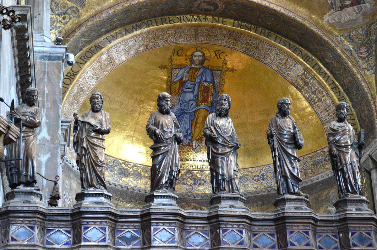 Interior of St Mark Basilica Venice