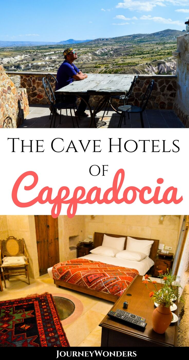 Add sleeping in a cave to your bucket list with the amazing cave hotels of Cappadocia, Turkey. Watch hot air balloons at sunrise from your hotel window in a cave!