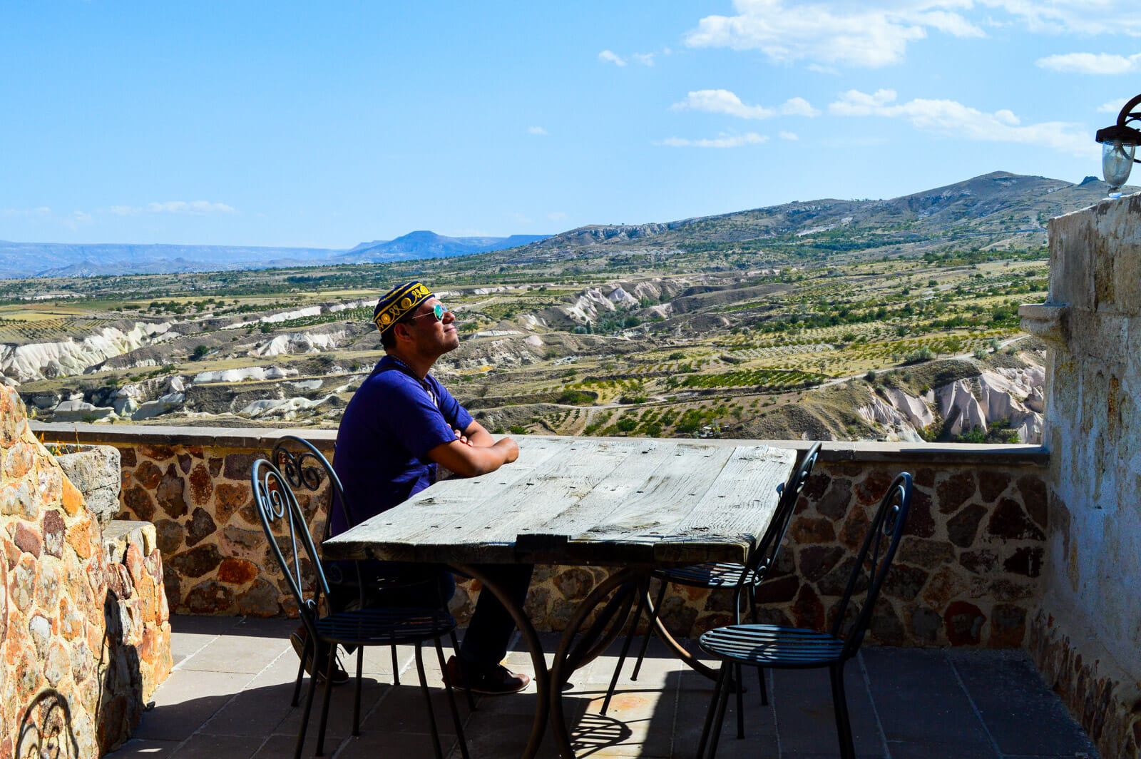 The Man of Wonders staying at a Cave Hotel in Cappadocia