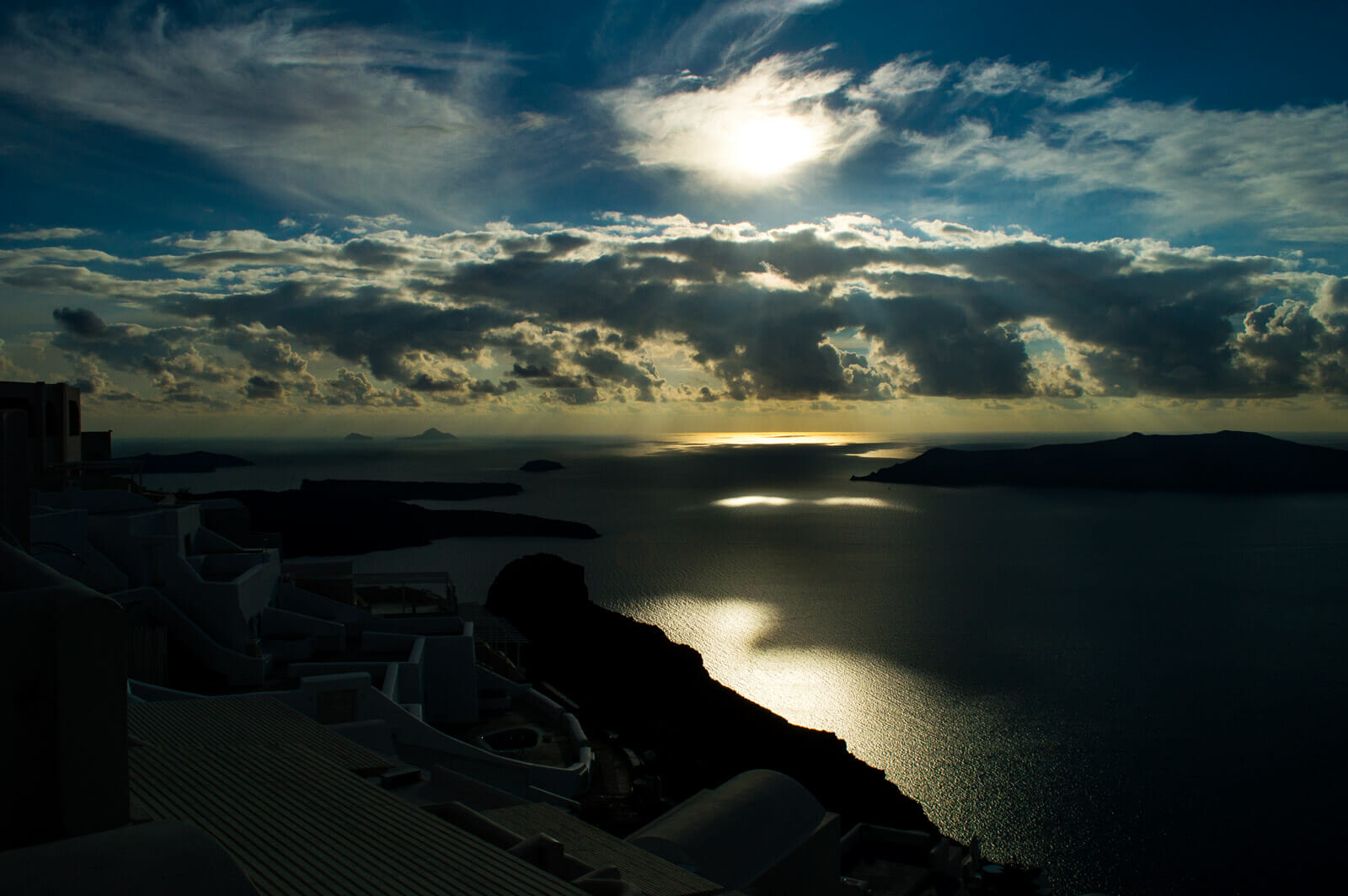 First of many sunsets at Santorini