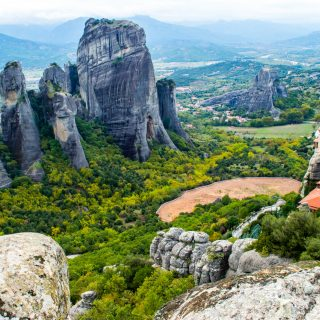 The breath taking landscapes of Meteora