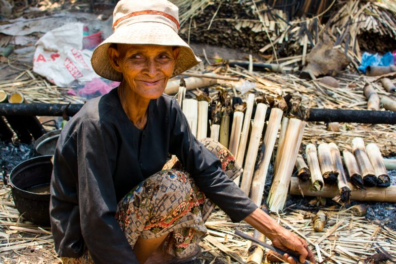 The though life in the countryside of Siem Reap, Cambodia