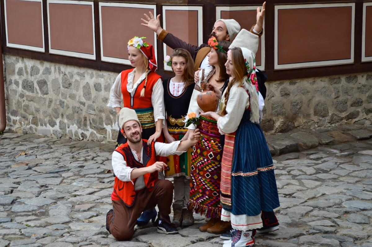 Bulgarian traditional costumes at Plovdiv