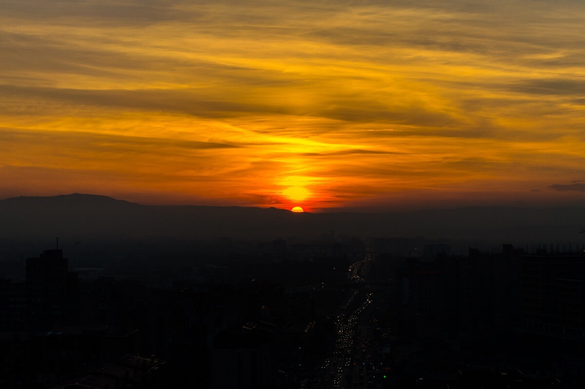 Epic sunset at Kosovo