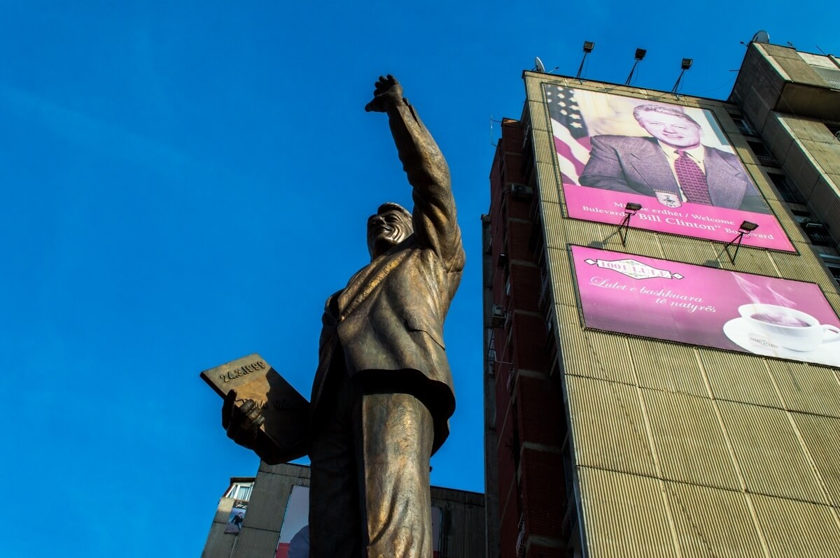 The Bill Clinton statue in Kosovo