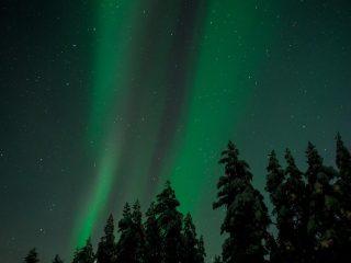 Aurora Borealis and the Starry Sky
