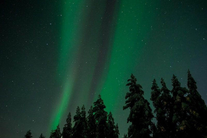 Aurora Borealis and the Starry Sky