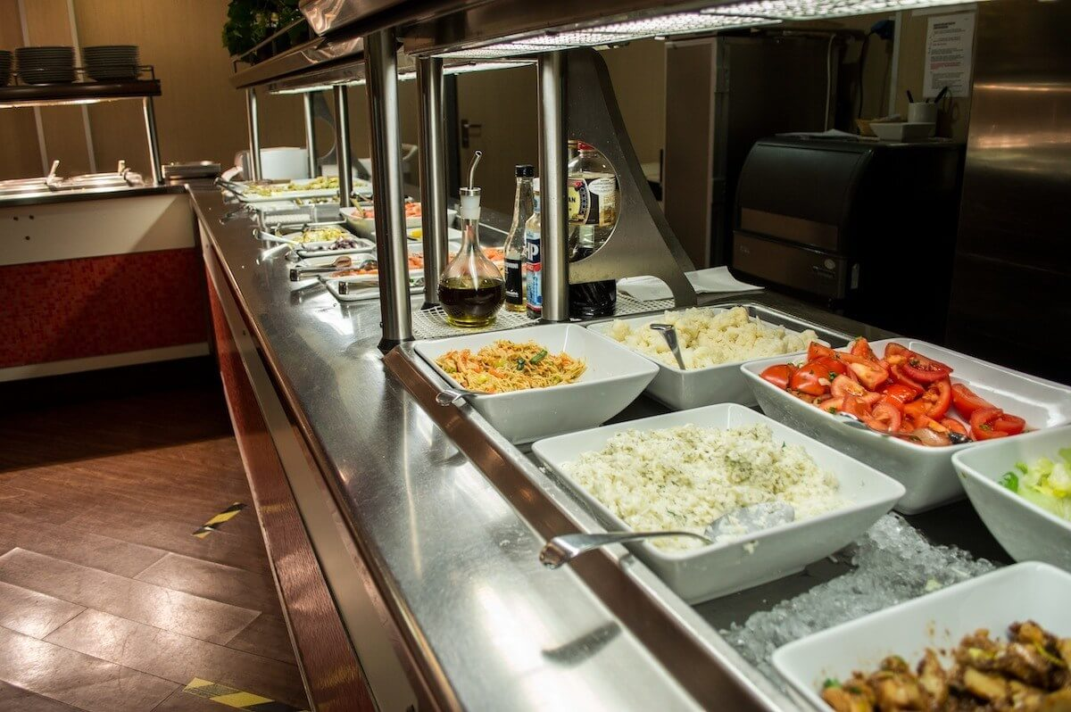 Buffet lunch at the Tallink ferry