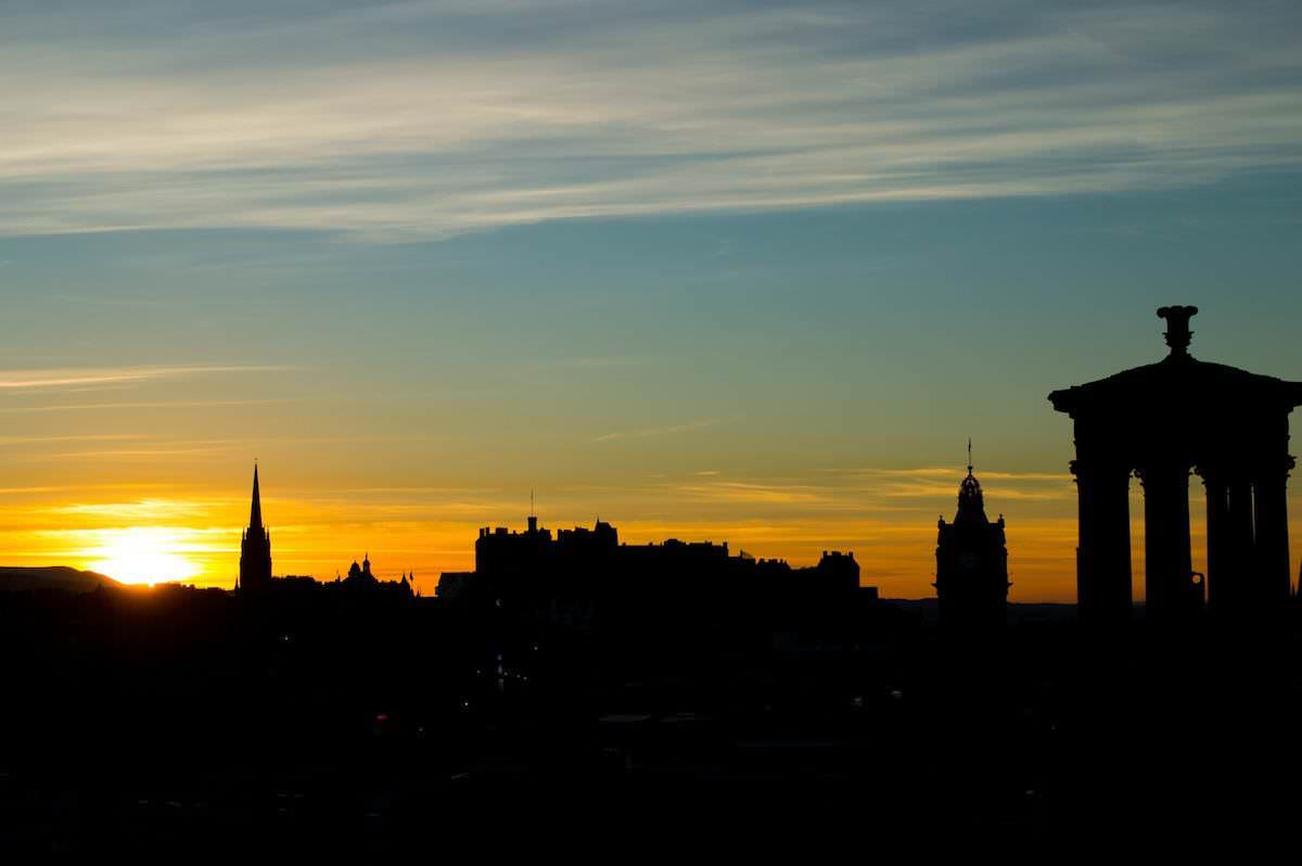 Last sunset of 2014 at Edinburgh
