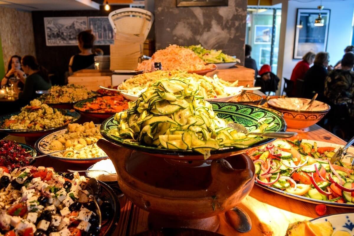 Moroccan food at Sandro