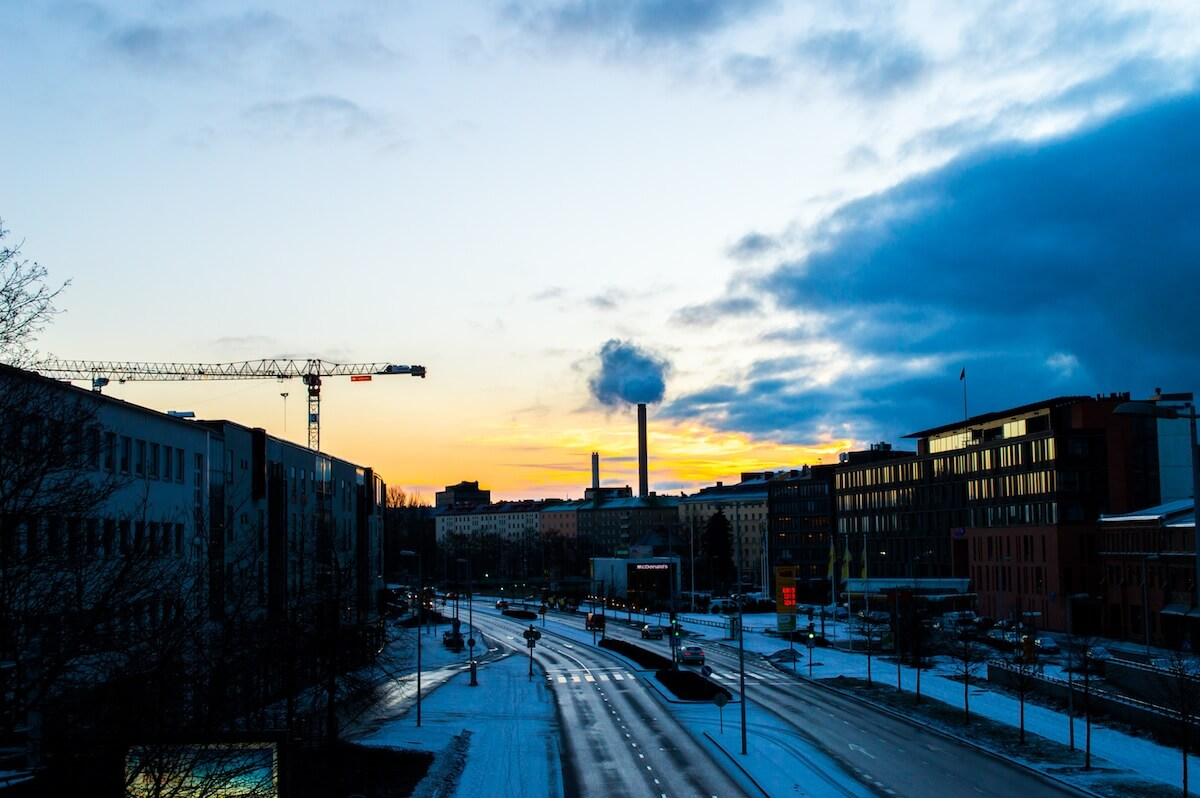Sunrise at Helsinki