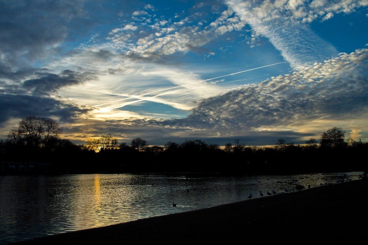 Sunset at Hyde Park, London