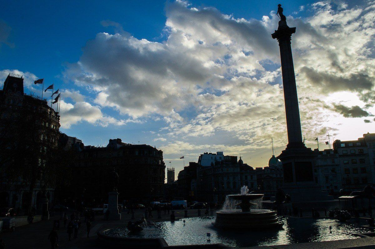 Sunset at Trafalgar Square