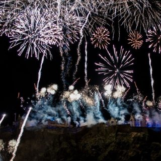 The Fireworks at Hogmanay 2014