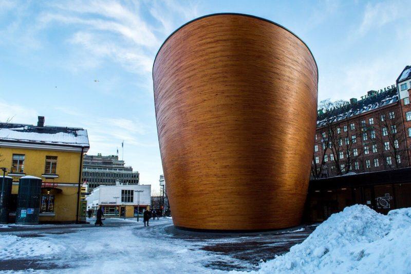 The chapel of silence in Helsinki