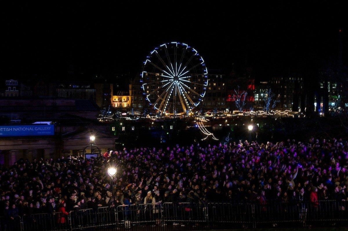 The concerts at Hogmanay