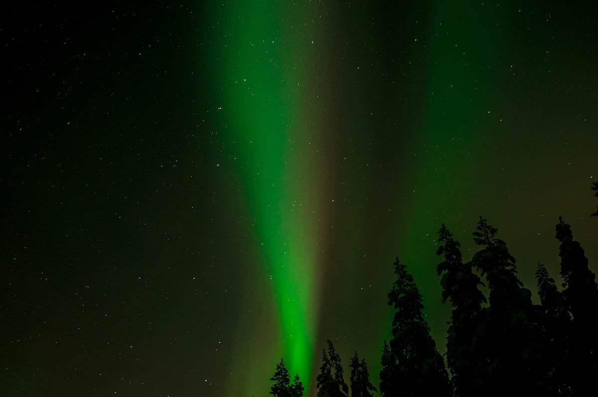 The green lights from heaven, Aurora Borealis