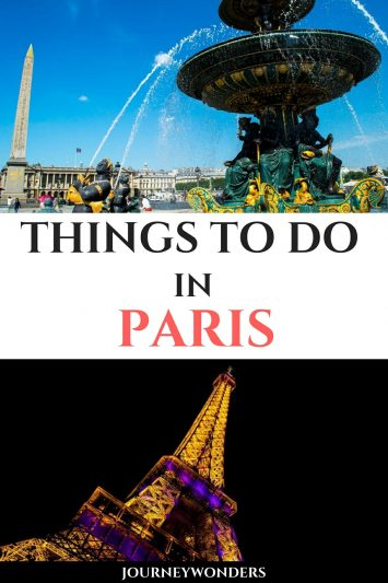 Things to Do and See in Paris France Europe Travel
