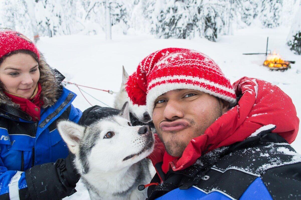 Husky Selfie Hell Yeah