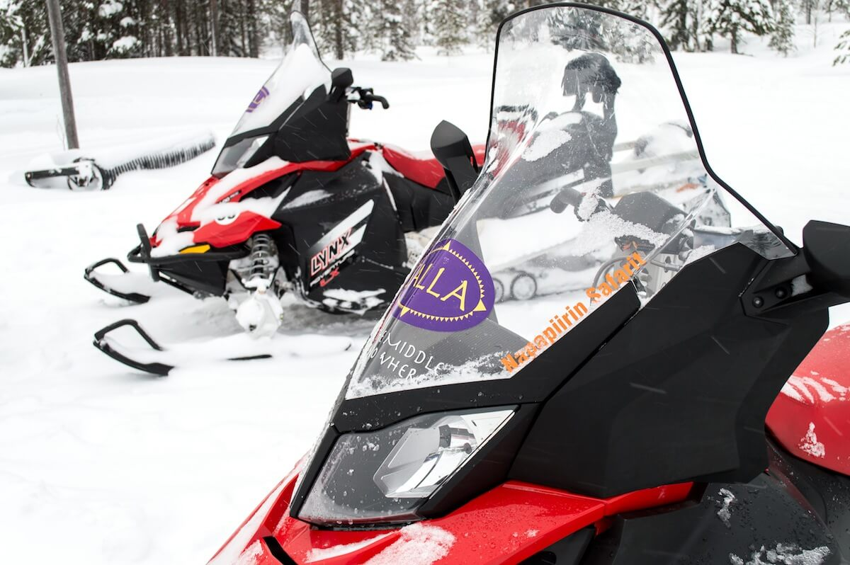 Snowmobiles in the middle of Nowhere