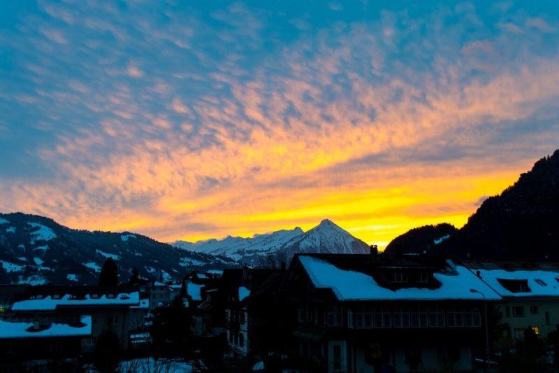 Sunset at Interlaken, Switzerland