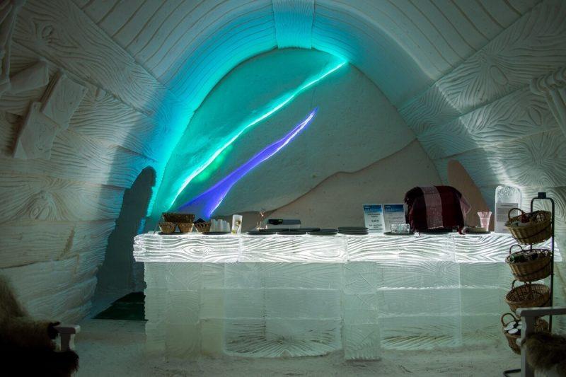 The Ice Bar at Kemi Snow Castle