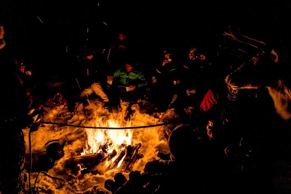 The Reindeer bonfire