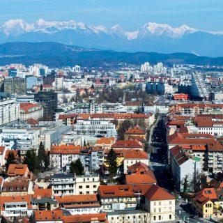 Ljubljana as seen from the Castle