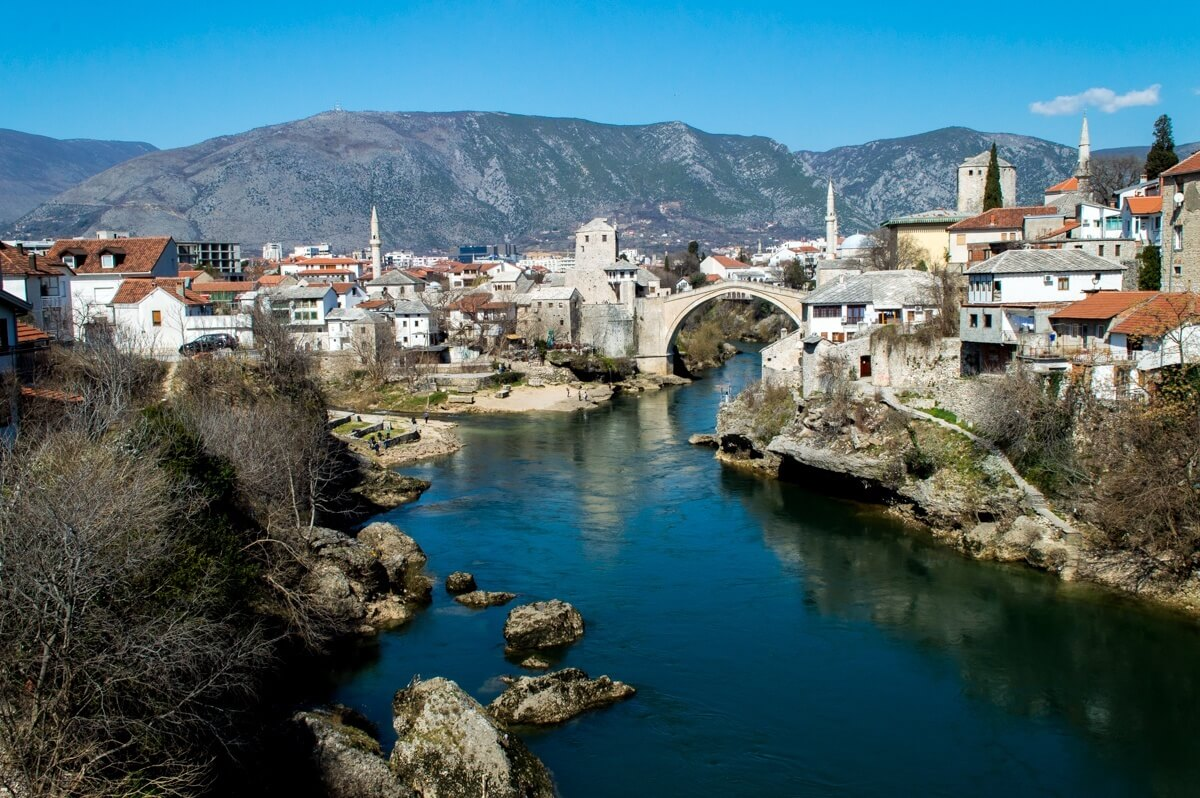 Panoramic view of Mostar, Bosnia