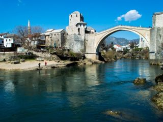 The Mostar Bridge, Bosnia