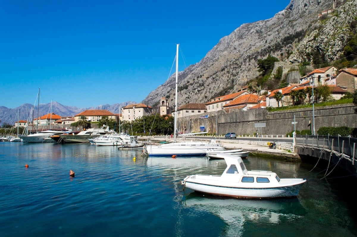 The bay of Kotor and the Old Town