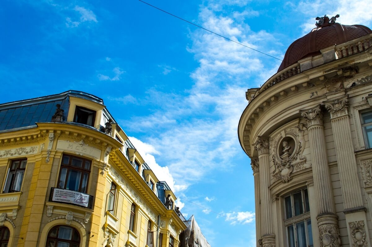 The unique architecture of Bucharest Old Town