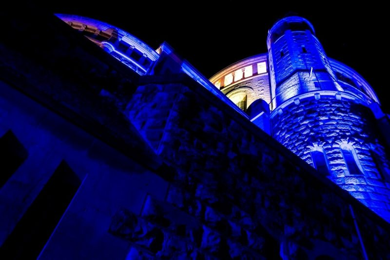 Dormiton Abbey at Night in Jerusalem
