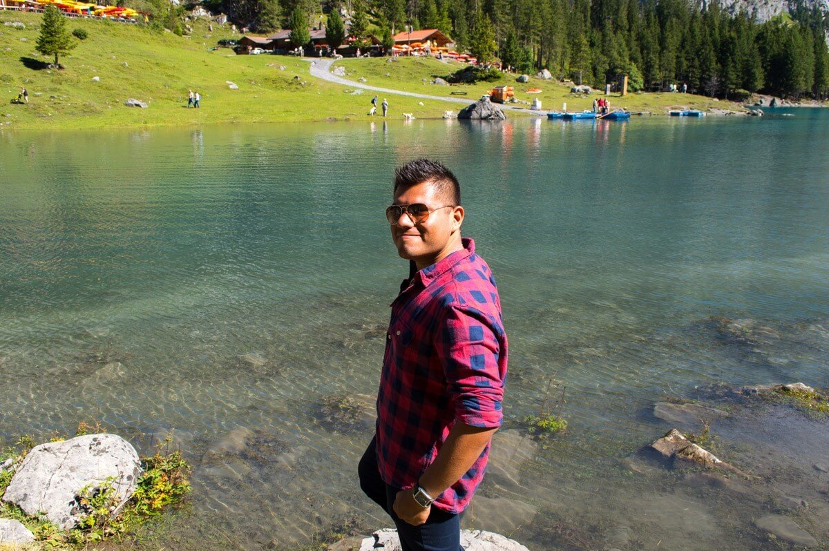 The Man of Wonders at the Swiss Alps