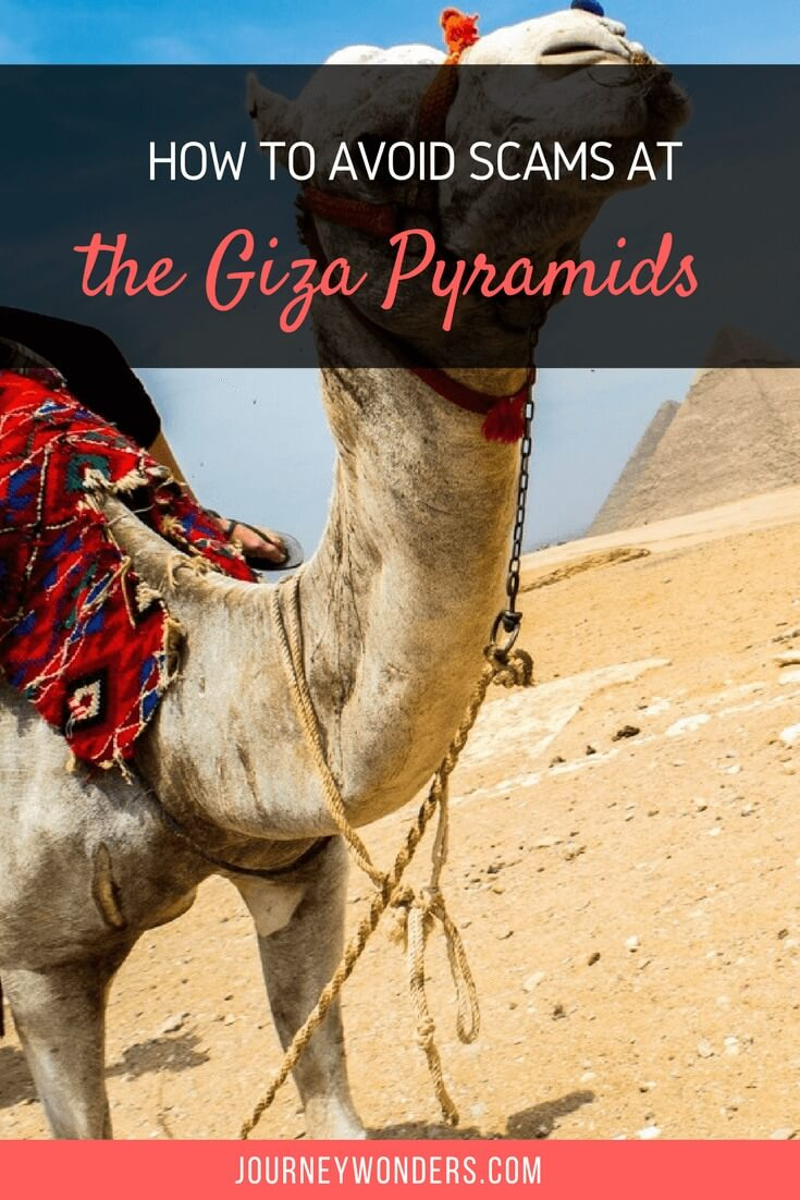 The ultimate survival guide to avoid scams at the Giza Pyramids in Egypt near El Cairo and how to deal with the Egyptian scam artists.