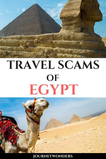 Travel Scams of Egypt at Giza Pyramids