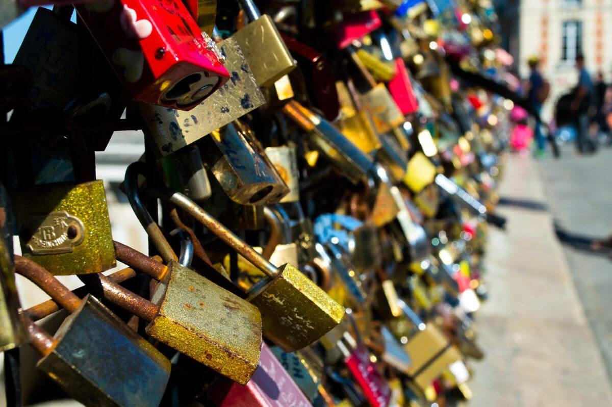 Lovelocks in Paris, France
