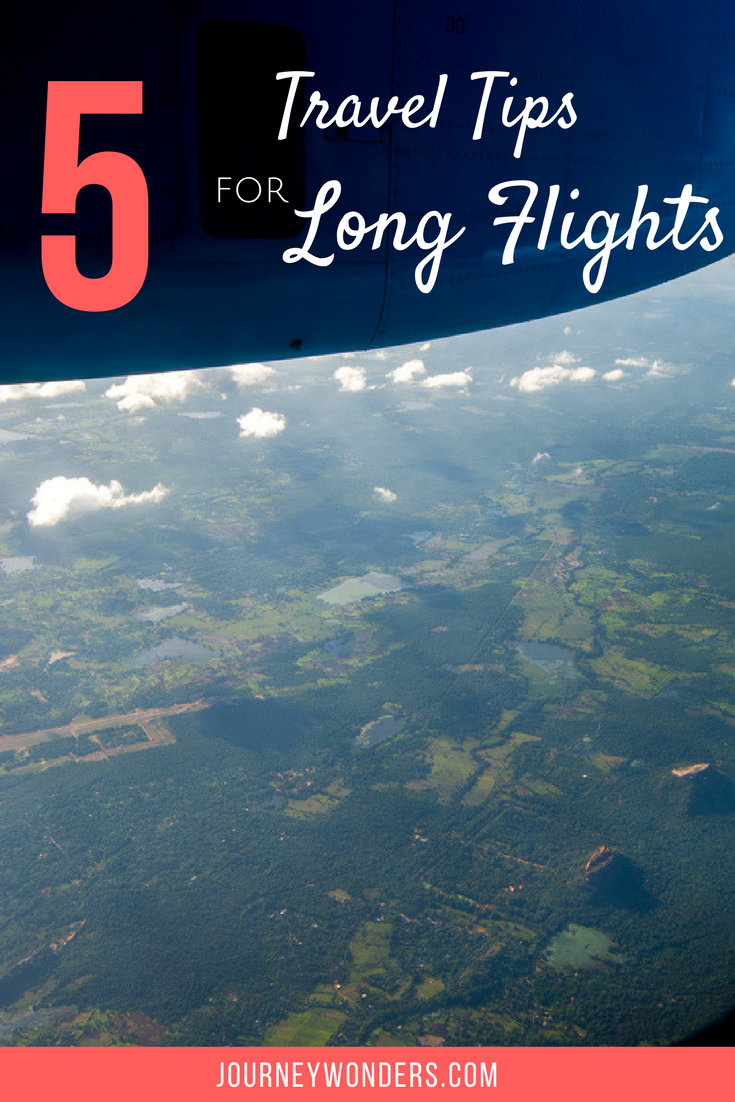 Are you usually bored and tired during long flights? Here's my top 5 travel tips to survive a long haul flight via @journeywonders