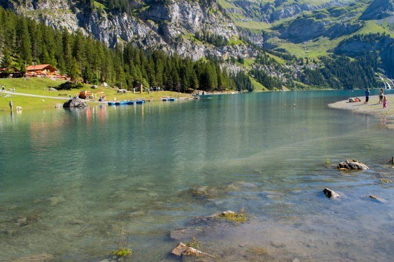 The Lake Oeschinensee, Switzerland