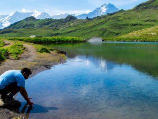 The Man of Wonders at Lake Bachalpsee