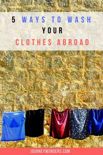 An article with the 5 ways to do your laundry when you're traveling. Don't be a Smelly Mellie and wash your clothes when you're abroad. Enjoy this 5 Travel Tips via @journeywonders
