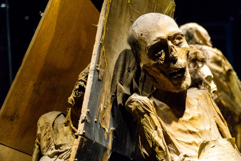 Coffins and Mummies in Guanajuato, Mexico