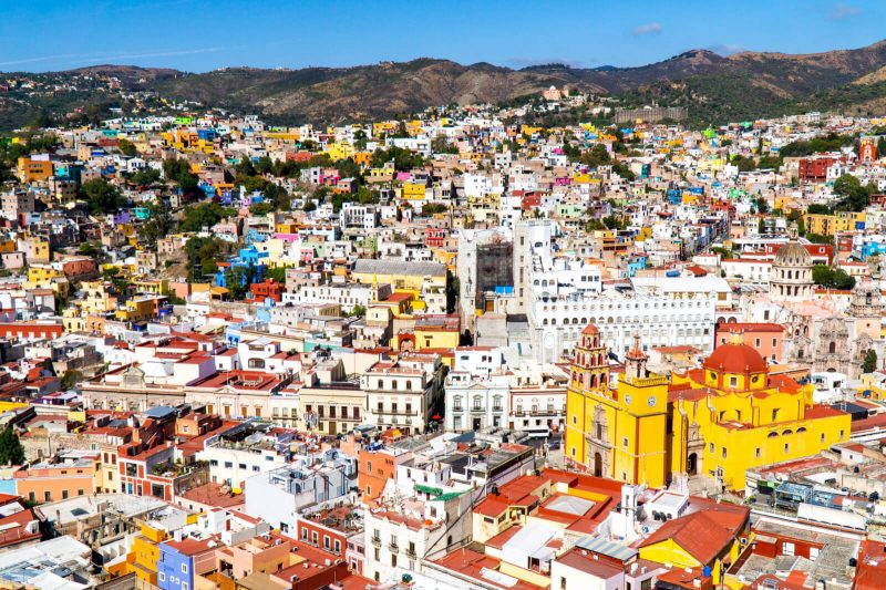 Panoramic view of Guanajuato City