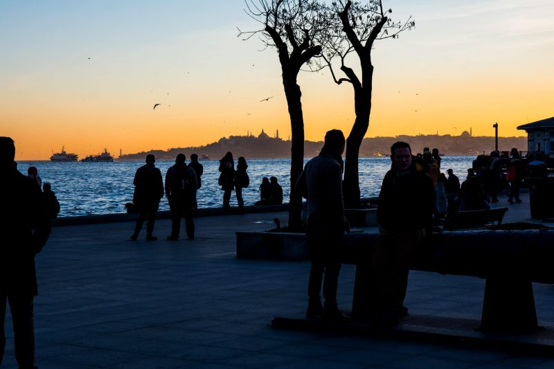 Sunset at Istanbul, Turkey