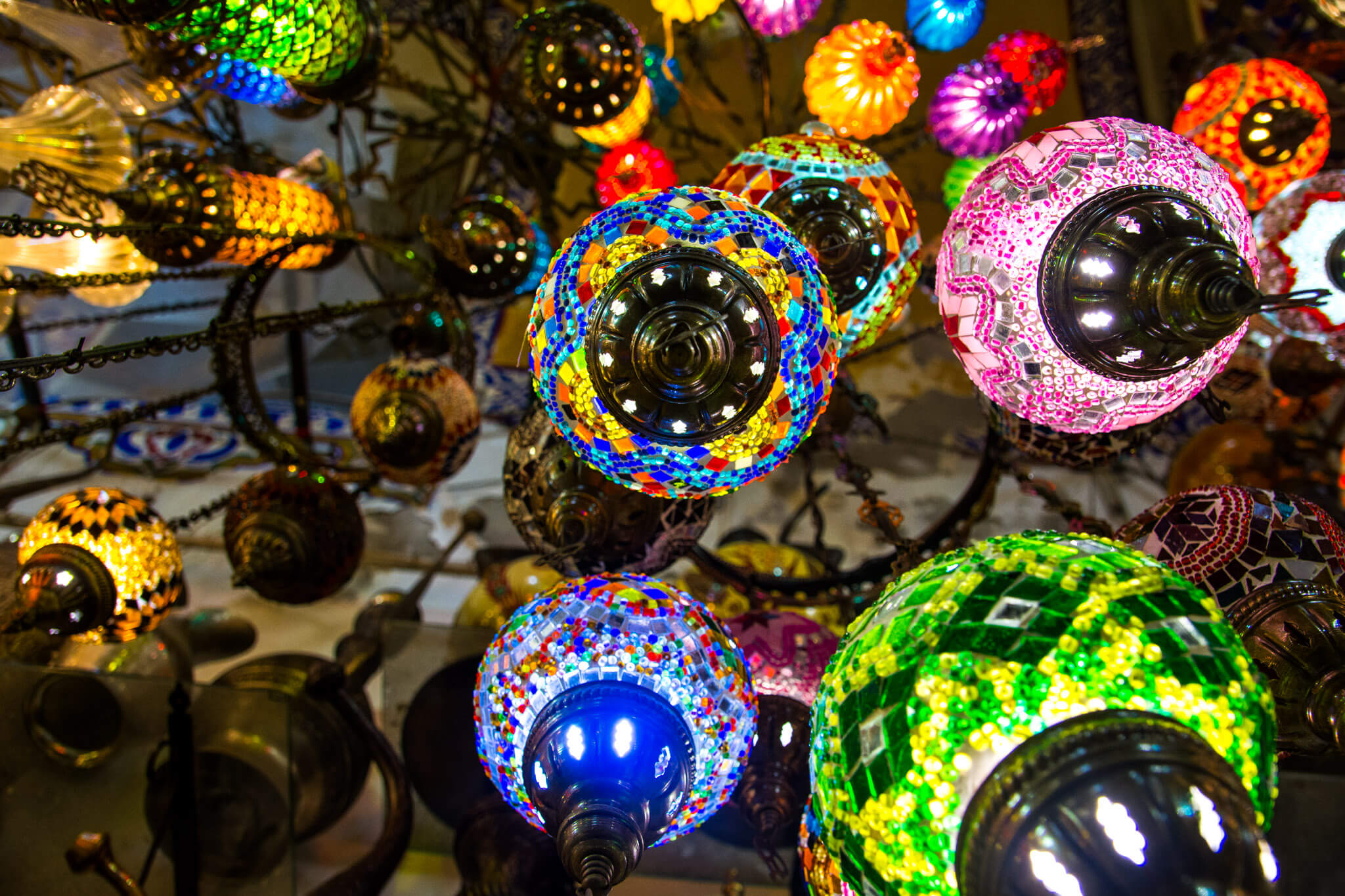The lamps of Istanbul Grand Bazaar