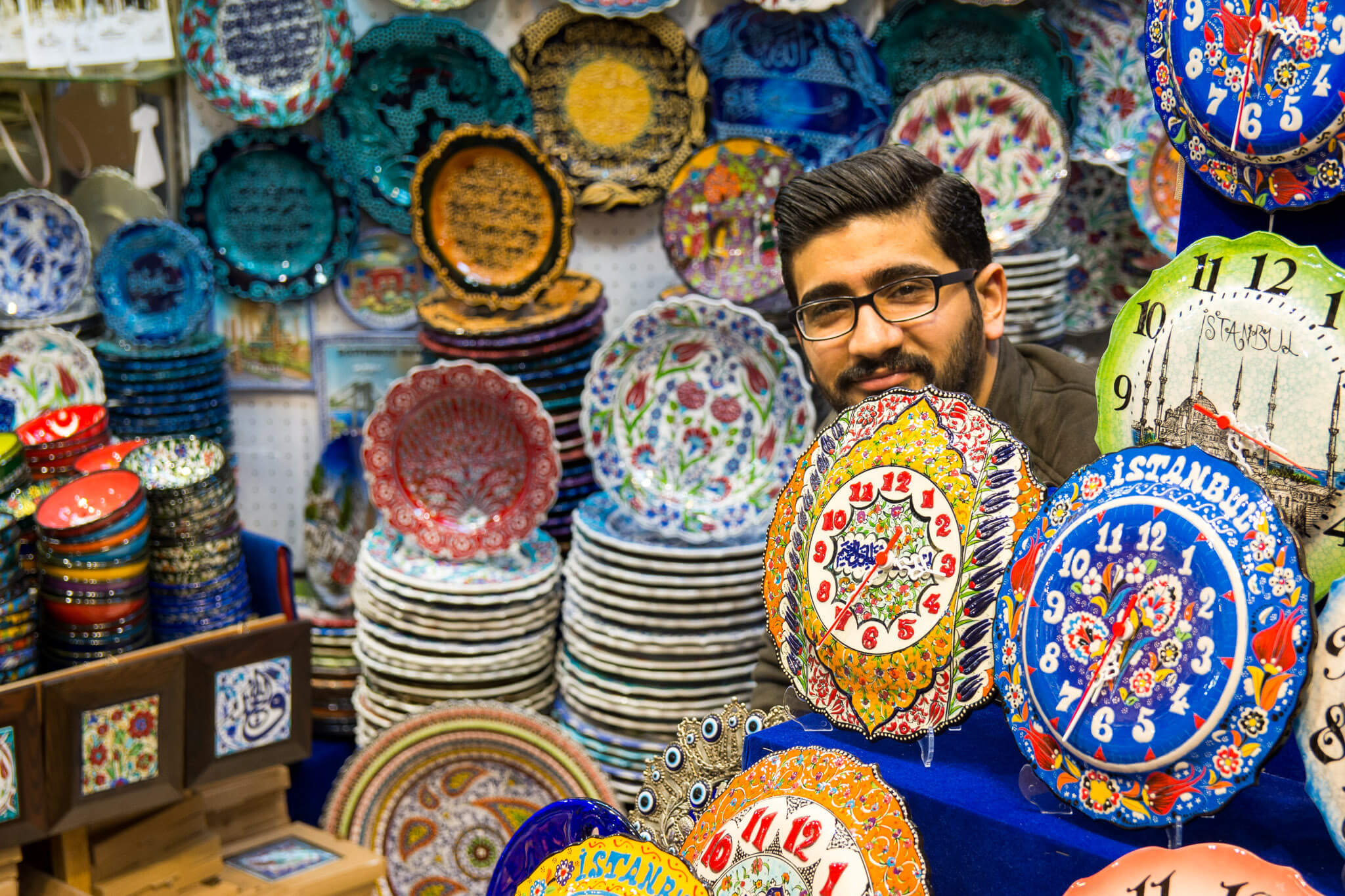 Vendors at the Grand Bazaar of Istanbul