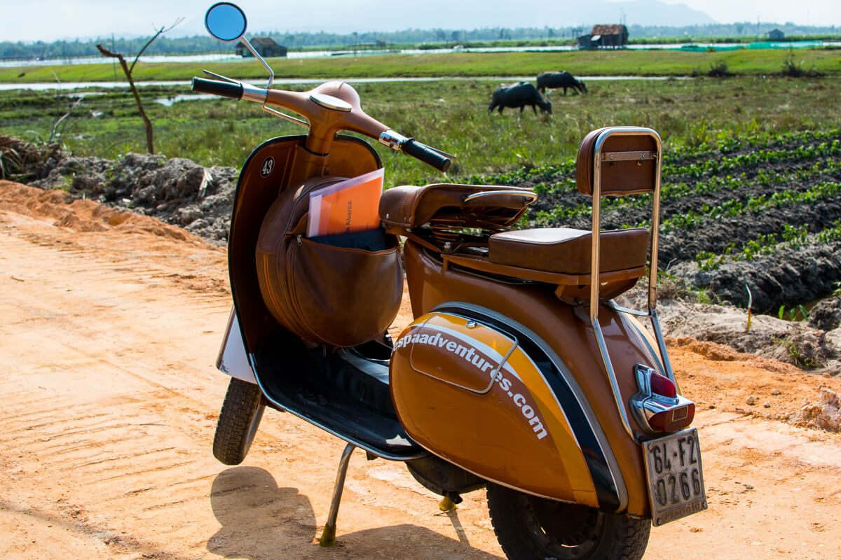 Vespa Adventures in the charming countryside of Hoi An