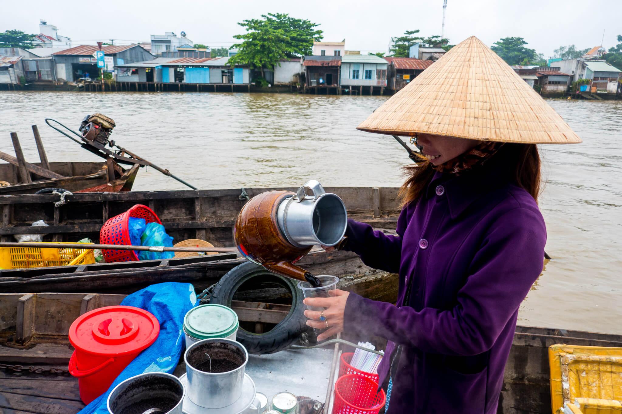 The Mekong Delta near Ho Chi Minh City