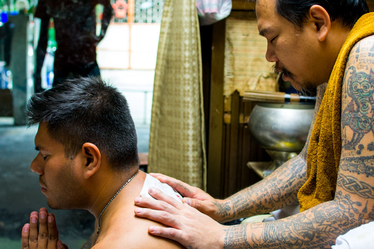 Getting a Sak Yant Tattoo in Bangkok 3